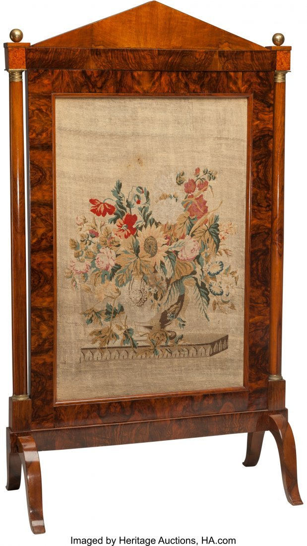 62036: A Neoclassical Biedermeier Fire Screen with Need