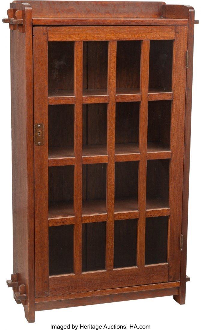 62113: An L & JG Stickley Onondaga Shops Glazed Bookcas