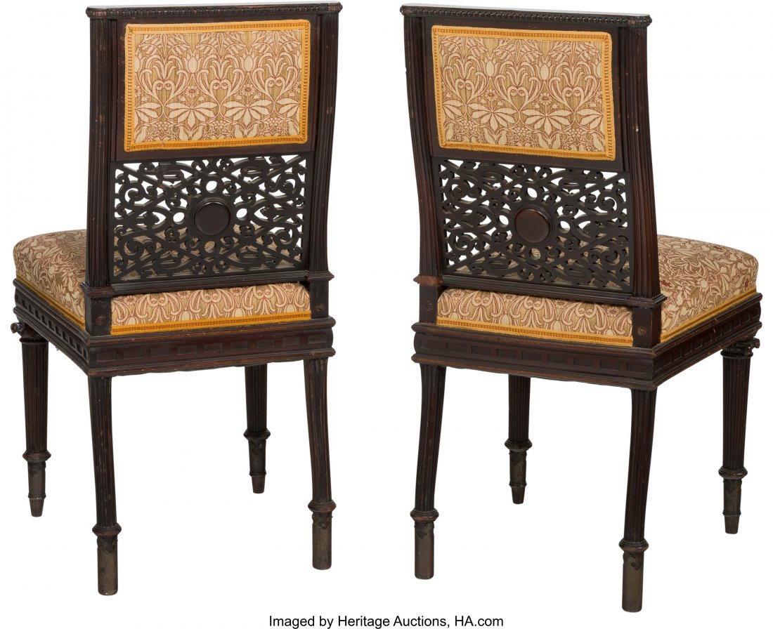 62115: A Pair of English Aesthetic Movement Upholstered - 2