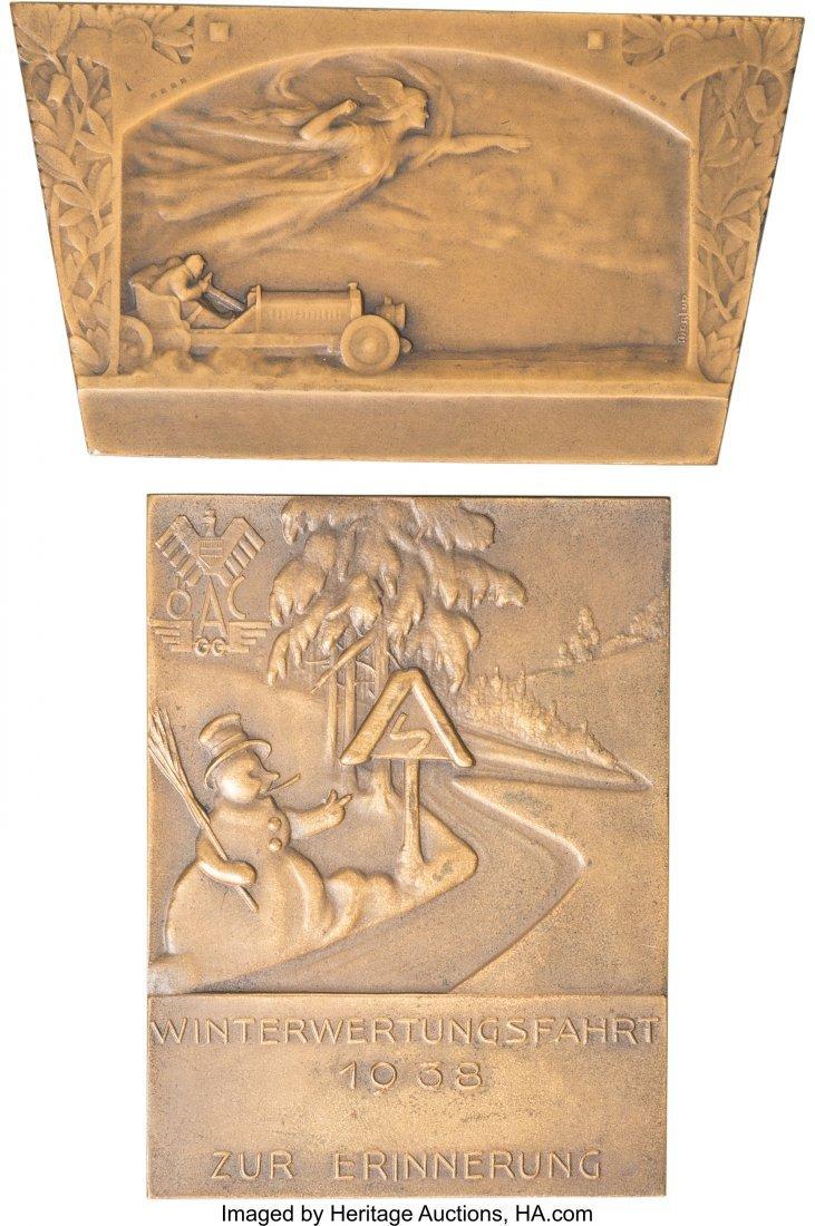 62221: Two Austrian Bronze Automobile Racing Plaques, c