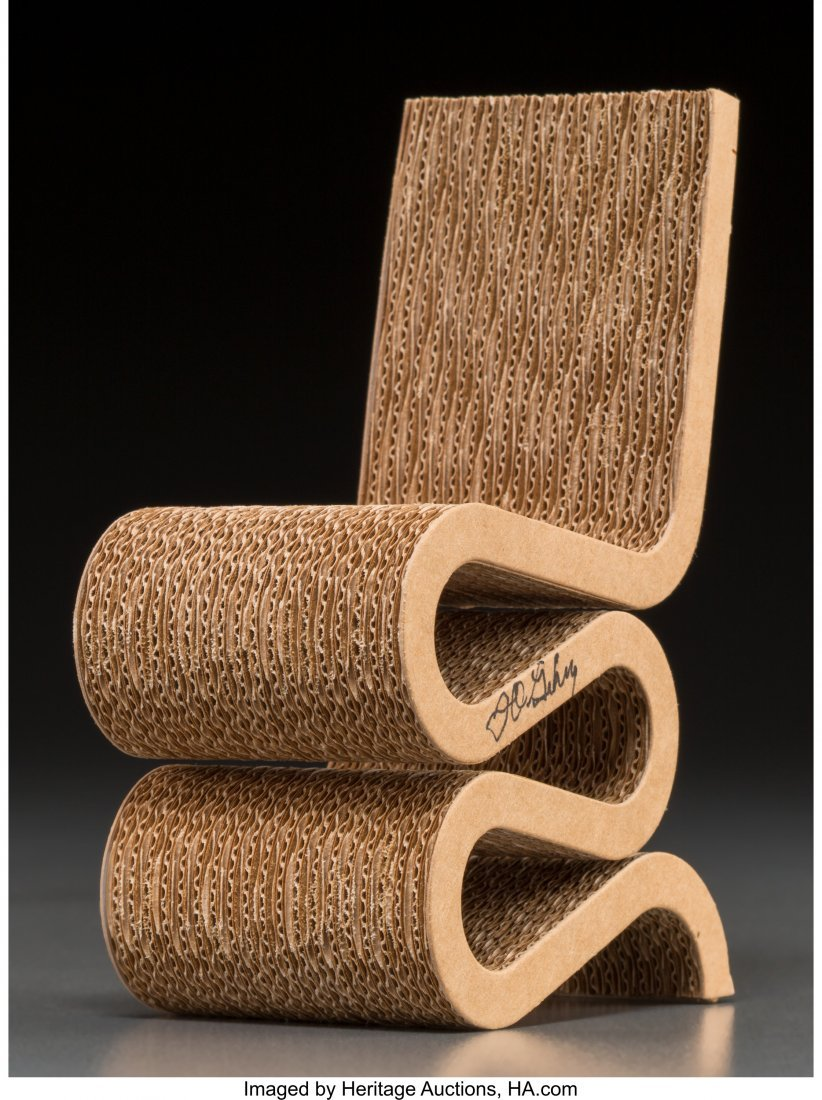 62225: A Frank Gehry Miniature Wiggle Chair for the Vit