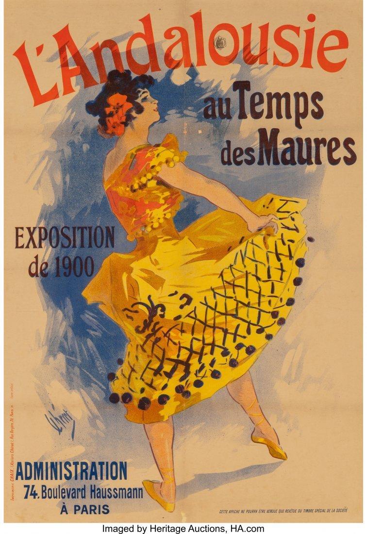 62318: Jules Chéret (French, 1836-1932) L'Andalouise a