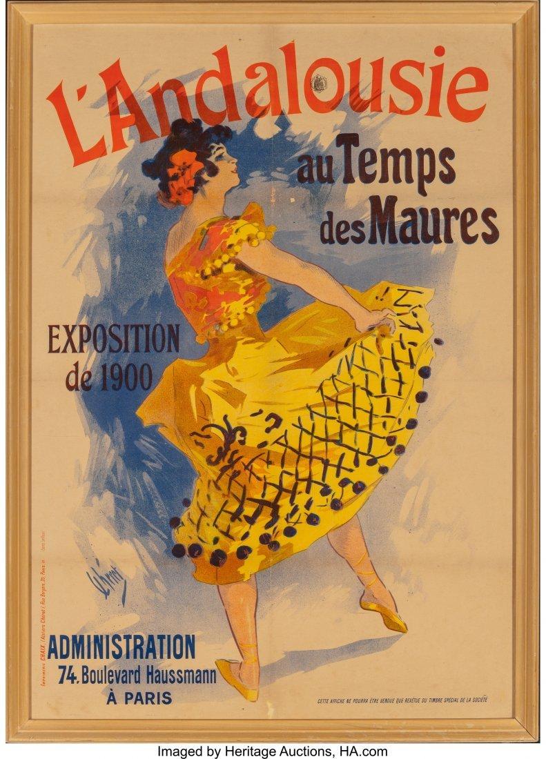 62318: Jules Chéret (French, 1836-1932) L'Andalouise a - 2