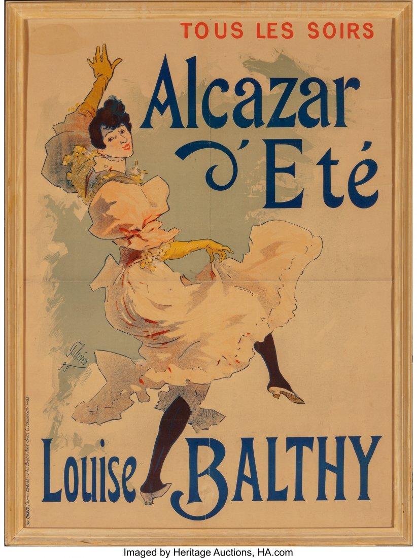 62319: Jules Chéret (French, 1836-1932) Alcazar d'Ete- - 2