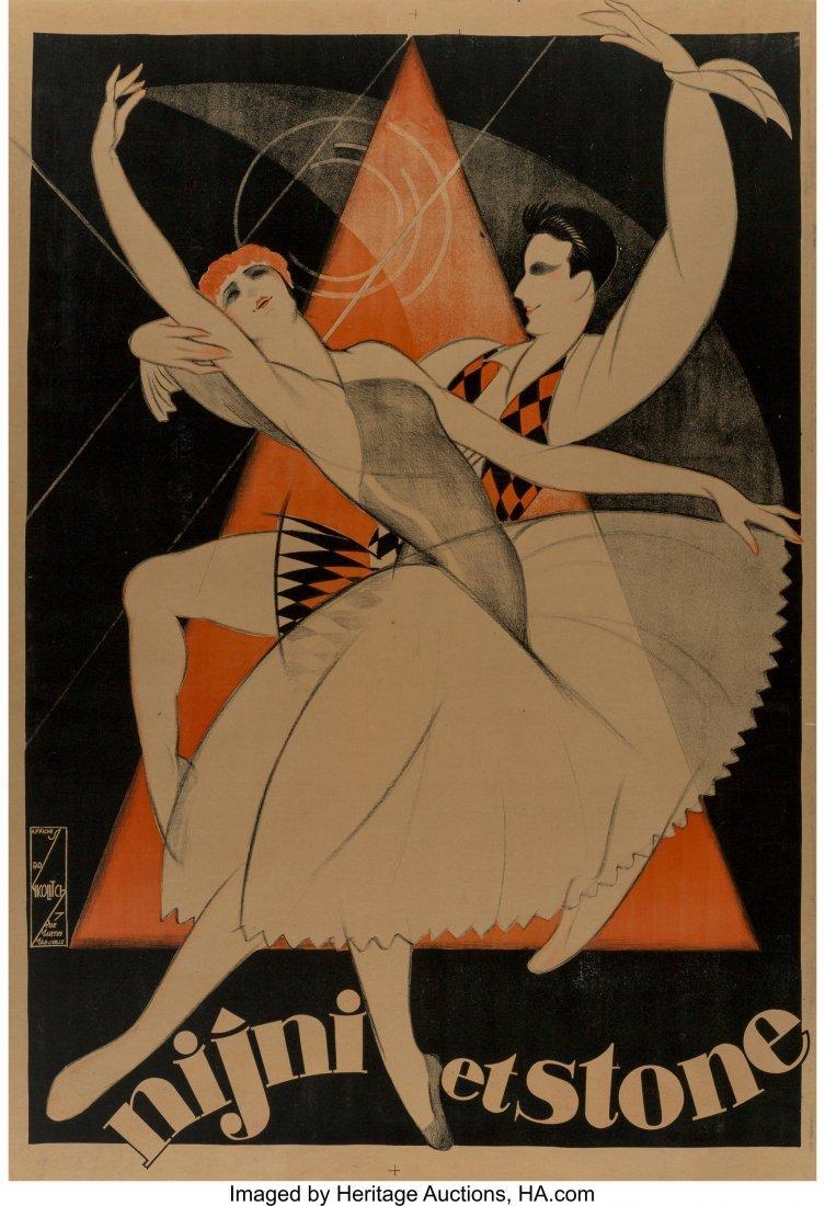 62322: Obrad Nicolitch (French, 1898-1976) Nijni et sto