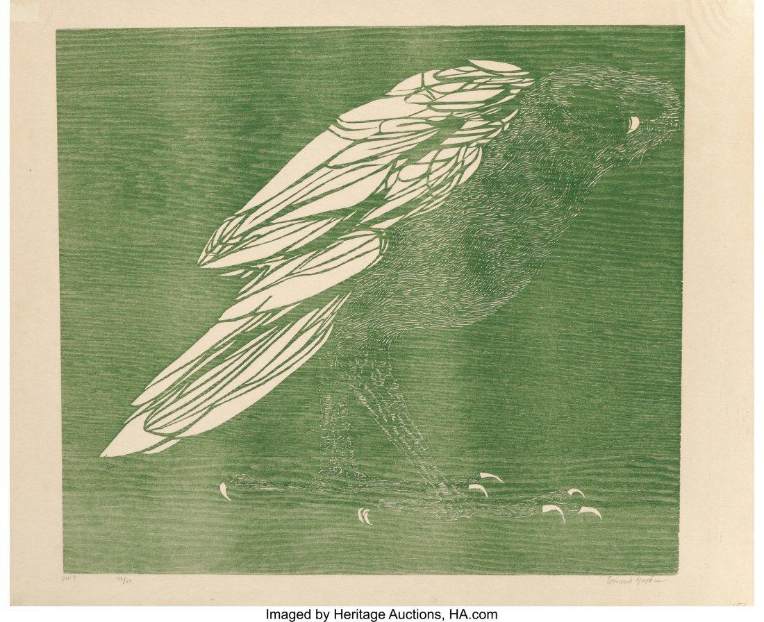62417: Leonard Baskin (American, 1922-2000) Owl, 1960 W