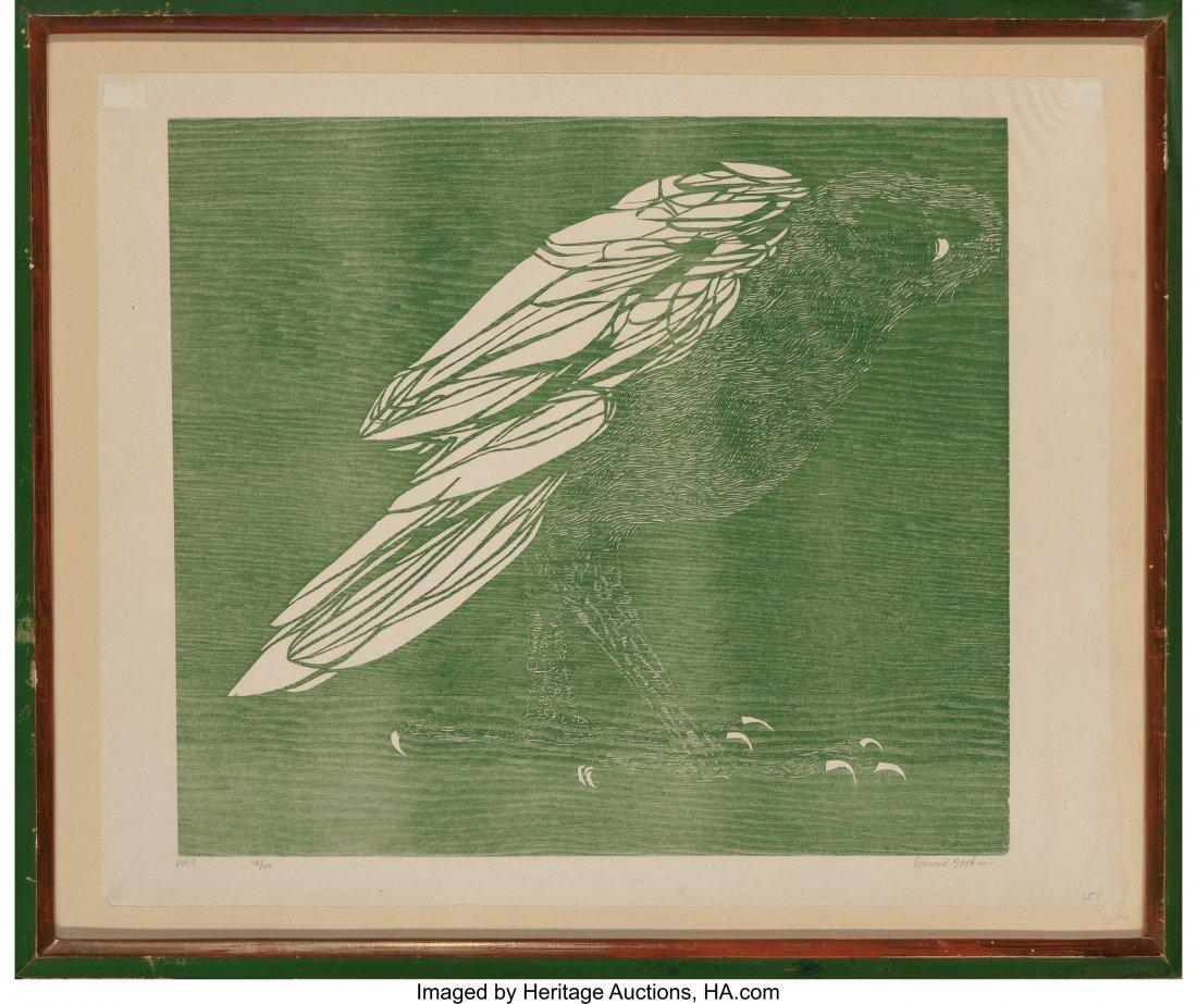 62417: Leonard Baskin (American, 1922-2000) Owl, 1960 W - 3