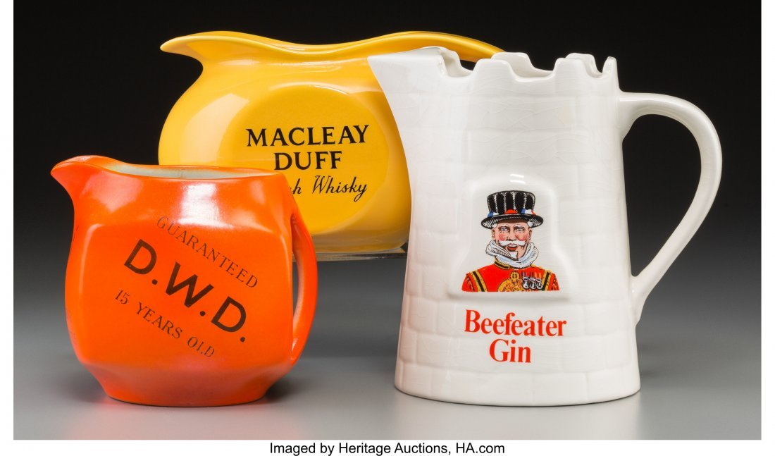 62253: Three Scotch and Gin-Related Ceramic Pitchers, 2 - 2