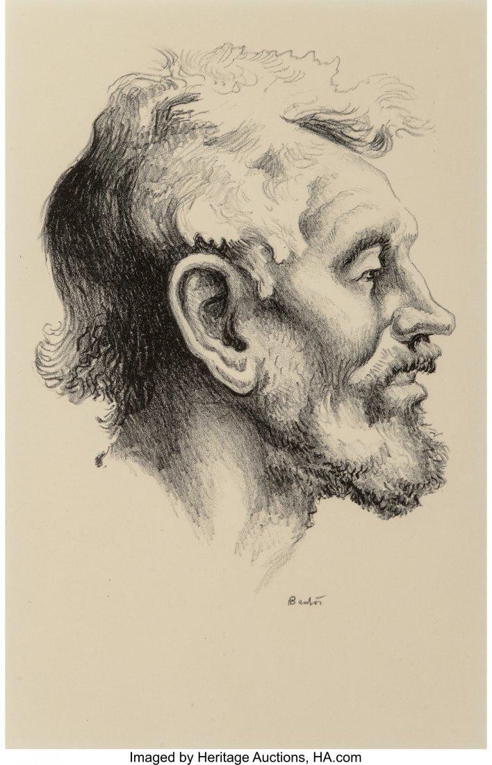 62350: Thomas Hart Benton (American, 1889-1975) Tom Kee