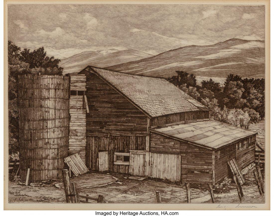 62353: Luigi Lucioni (American, 1900-1988) Vermont Surv