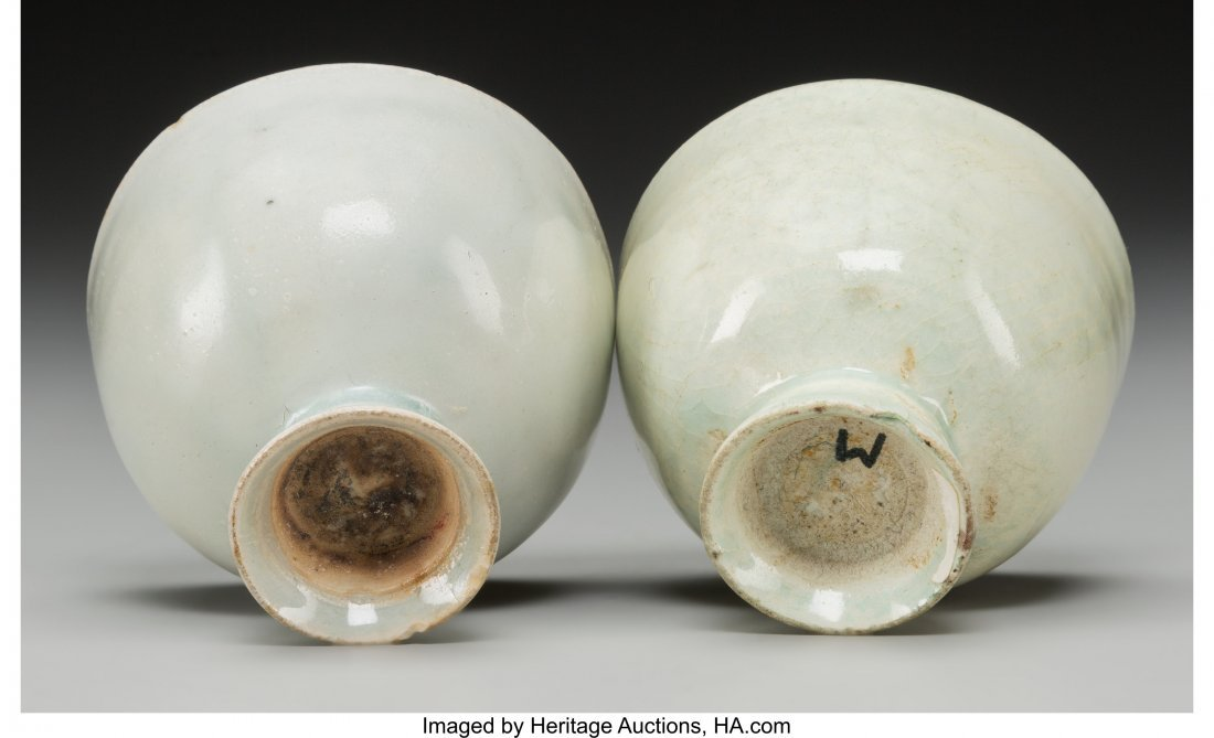 62181: A Pair of Chinese Qingbai Ware Cups 2-3/8 h x 2- - 3