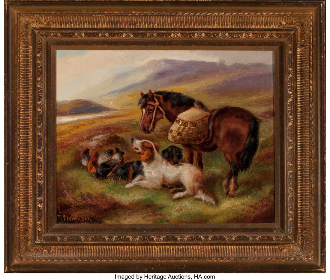 62369: Robert Cleminson (British, 1835-1898) Animals in - 2