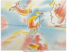 62465: Peter Max (American, b. 1937) Boat Flyer, 1980 L