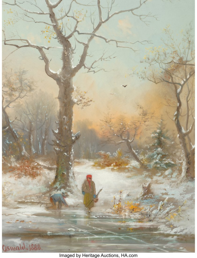 62381: Oswald (19th Century) A Winter Walk, 1888 Mixed