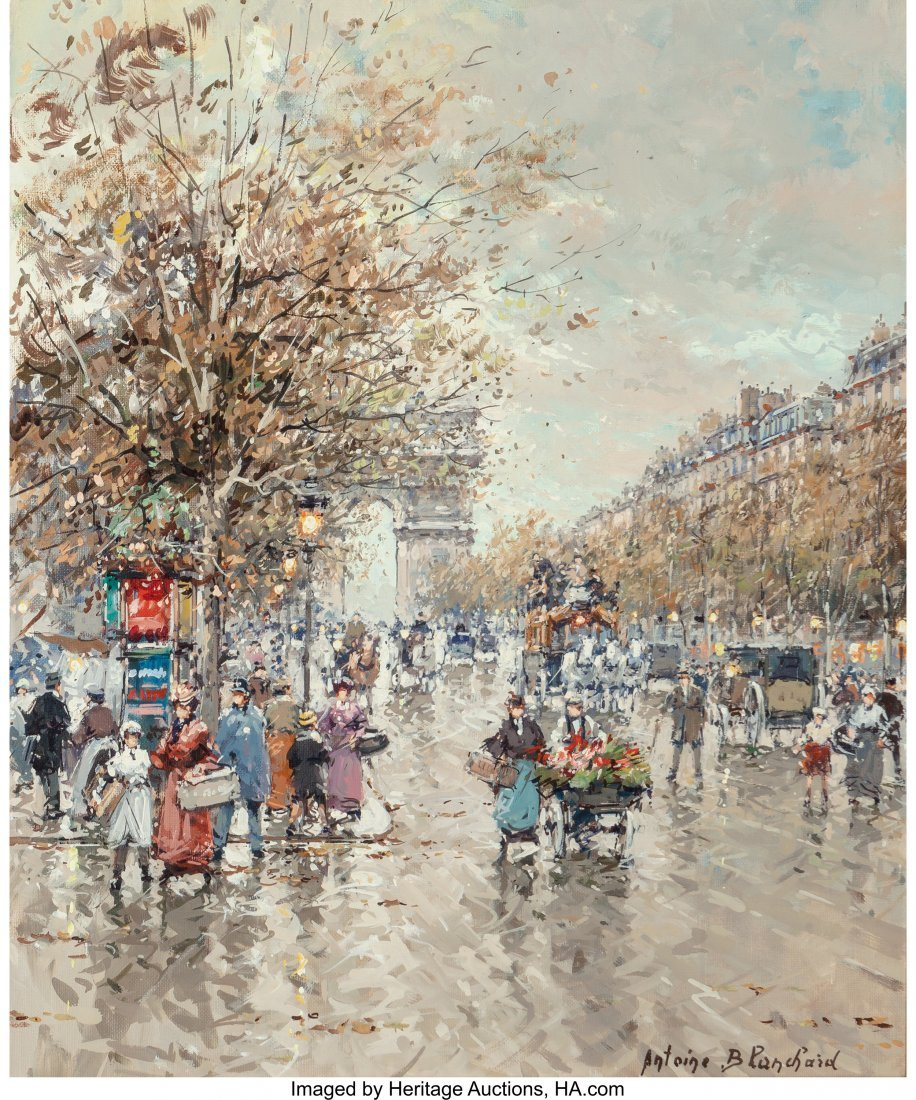 69002: Antoine Blanchard (French, 1910-1988) Arc de Tri