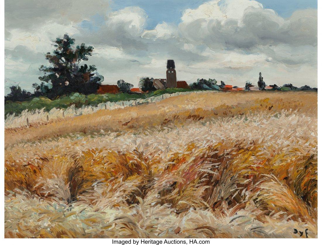 69016: Marcel Dyf (French, 1899-1985) Moisson en Ile-de