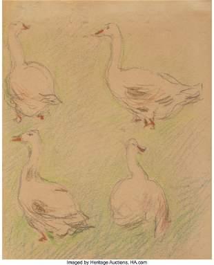 69029: Alfred Sisley (French, 1839-1899) Etude de quatr