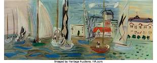 69020: Raoul Dufy (French, 1877-1953) Règates à Deauv