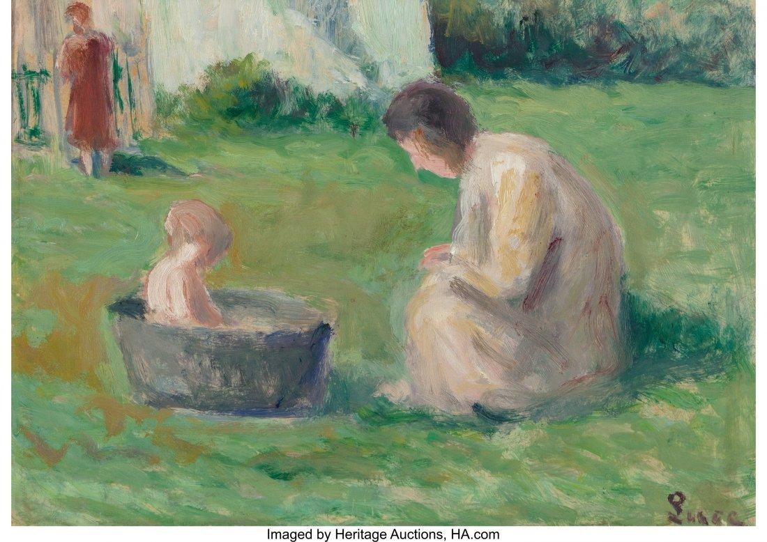 69008: Maximilien Luce (French, 1858-1941) Le bain du b