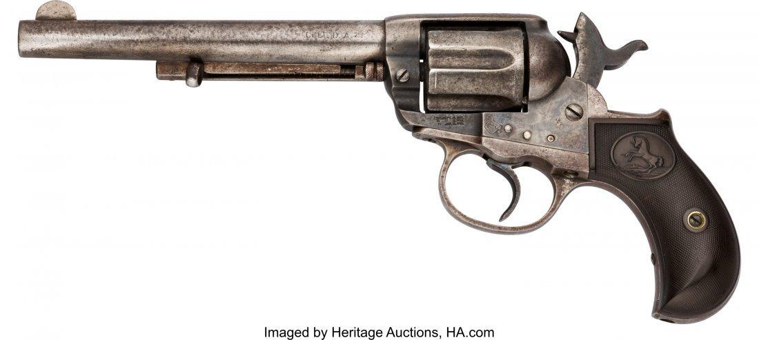 40102: Colt Thunderer Model Single Action Revolver.  Se - 2