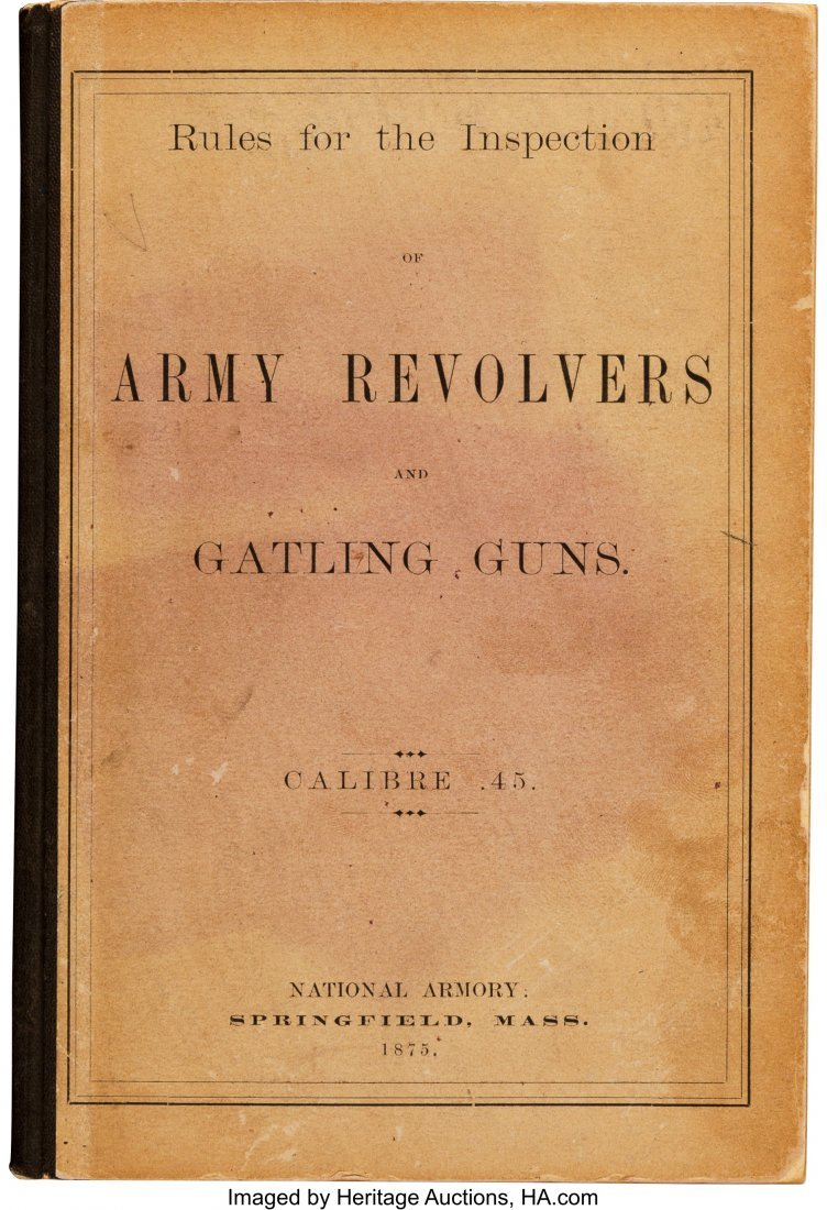 40284: [Gatling Guns]. Capt. J. P. Farley. Rules for th