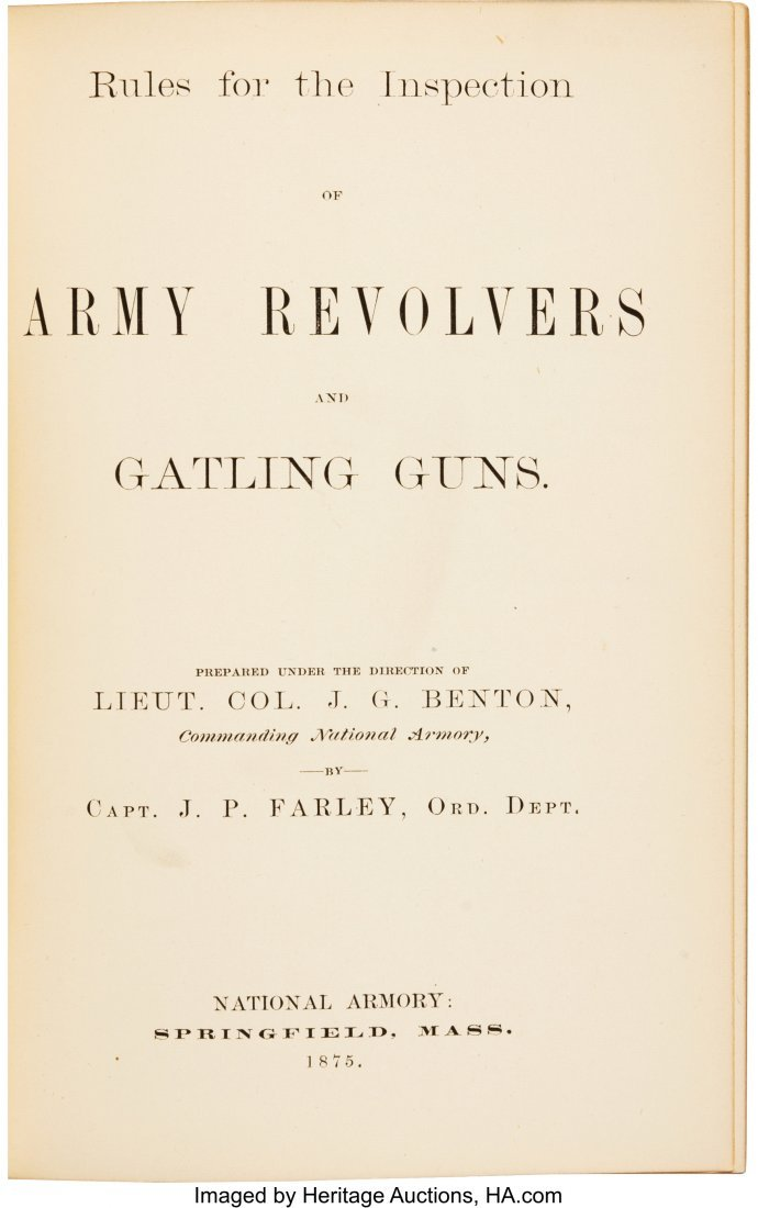 40284: [Gatling Guns]. Capt. J. P. Farley. Rules for th - 2