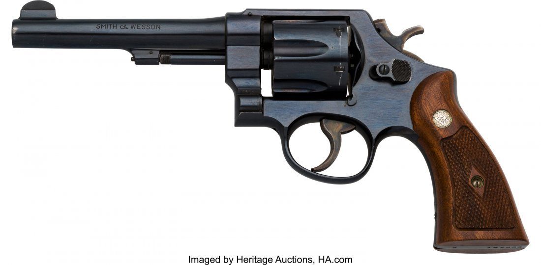 40124: Boxed Smith & Wesson 1950 Military Model 22 Doub - 2