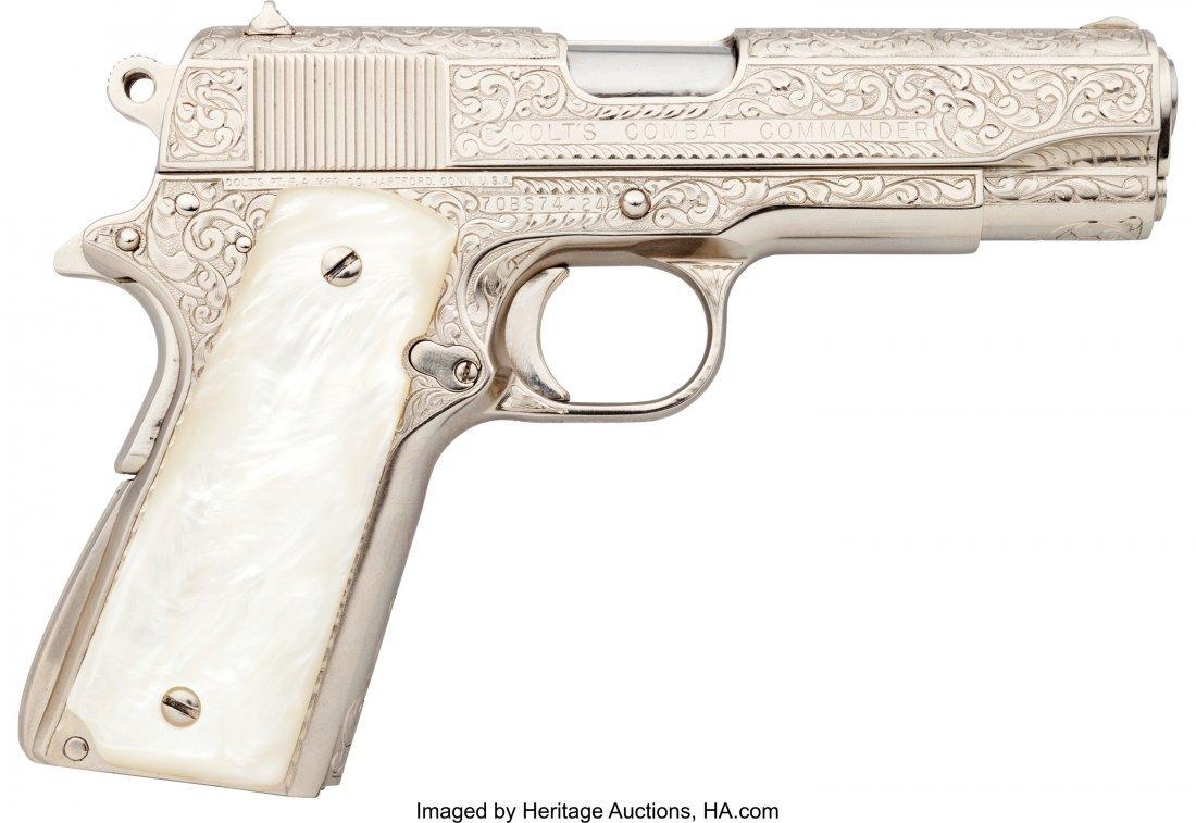 40400: Engraved Colt Combat Commander Semi-Automatic Pi