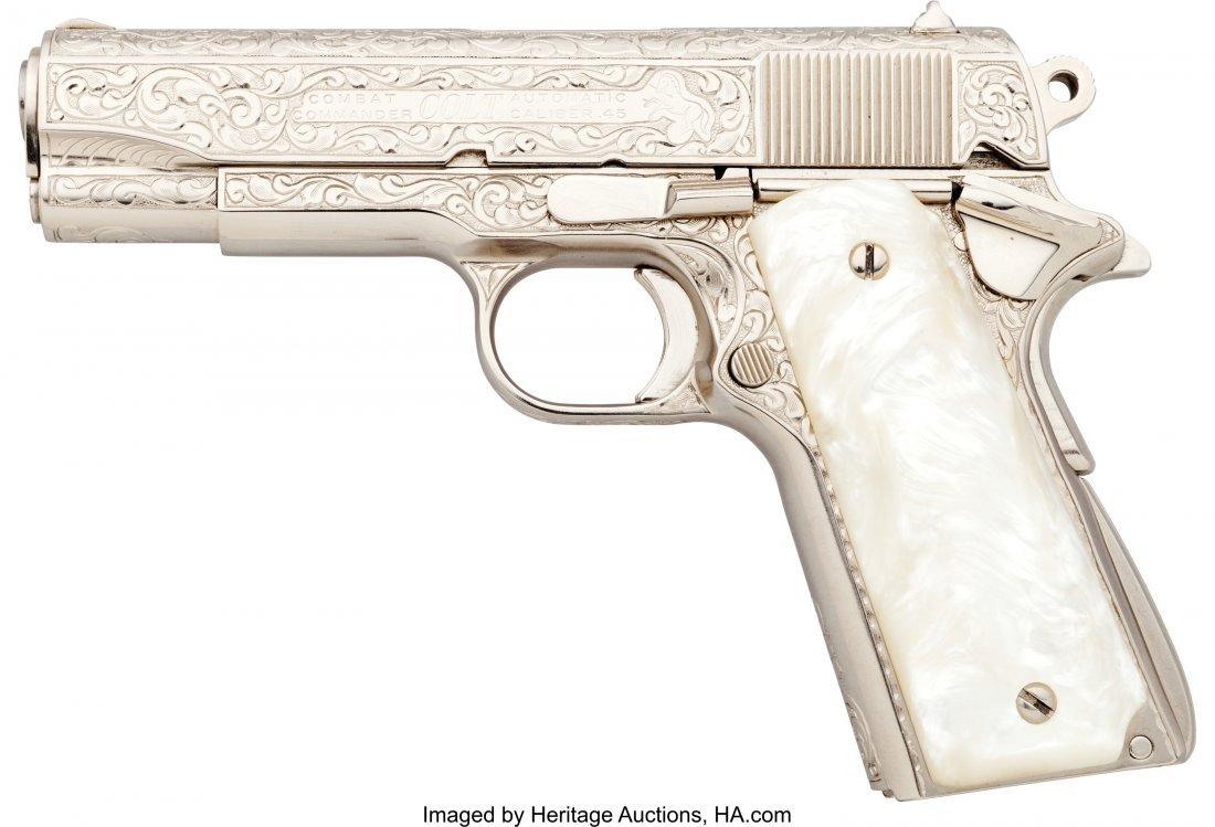 40400: Engraved Colt Combat Commander Semi-Automatic Pi - 2