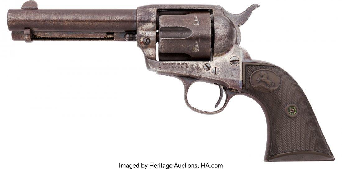 40058: Colt Single Action Army Revolver.  Serial no. 26 - 2