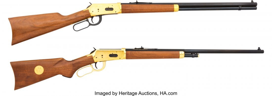 40338: Lot of Two Commemorative Winchester Lever Action