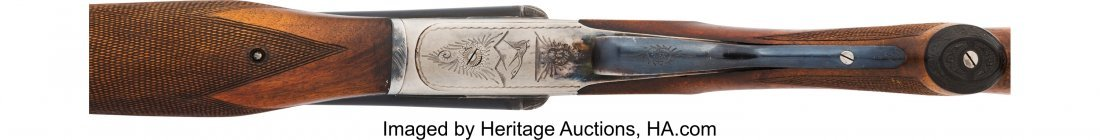 40431: Engraved Armas Bost / Ames Double Barrel Shotgun - 4