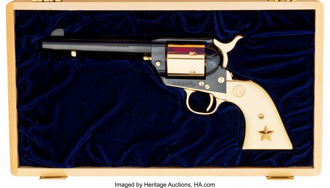 40073: Cased Colt Alamo Model Single Action Army Revolv