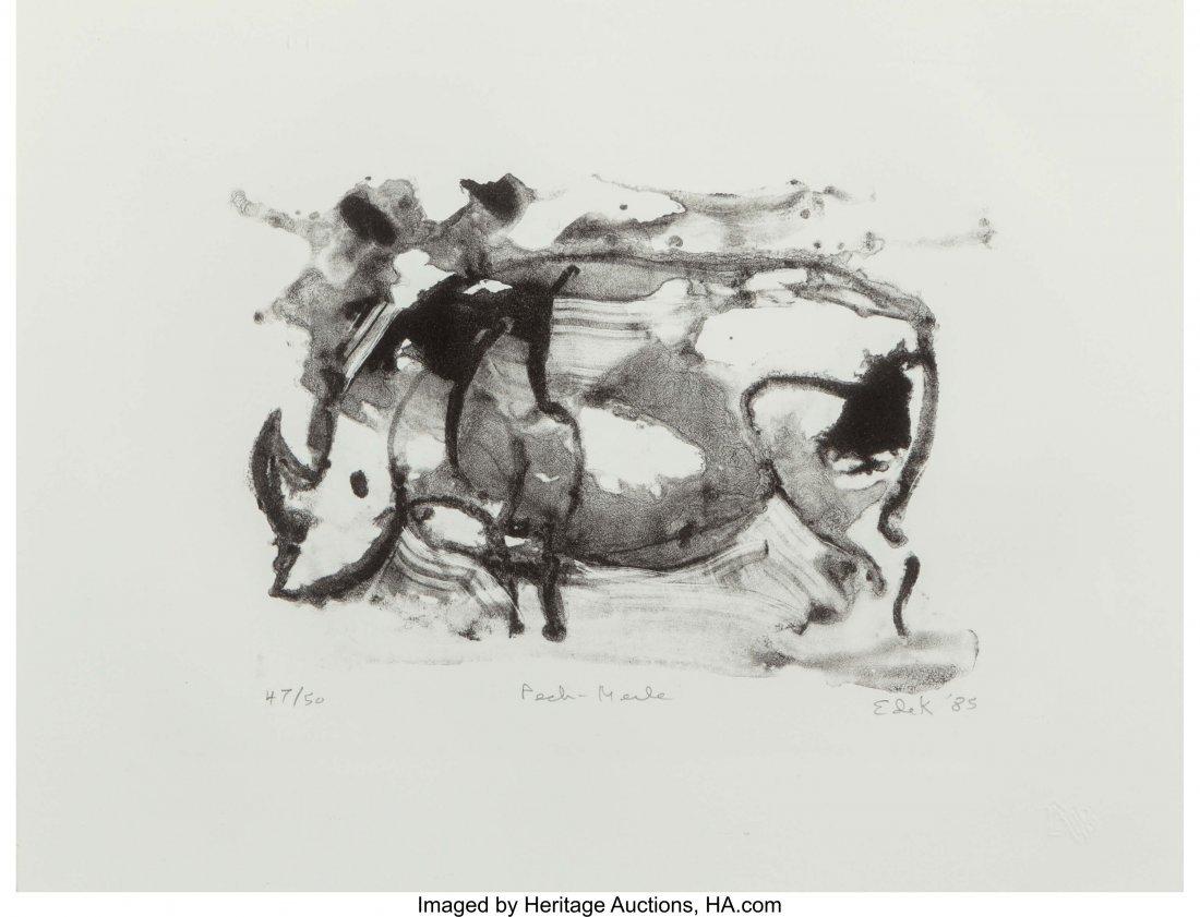 12051: Elaine de Kooning (1919-1989) Peche-Merle, 1985