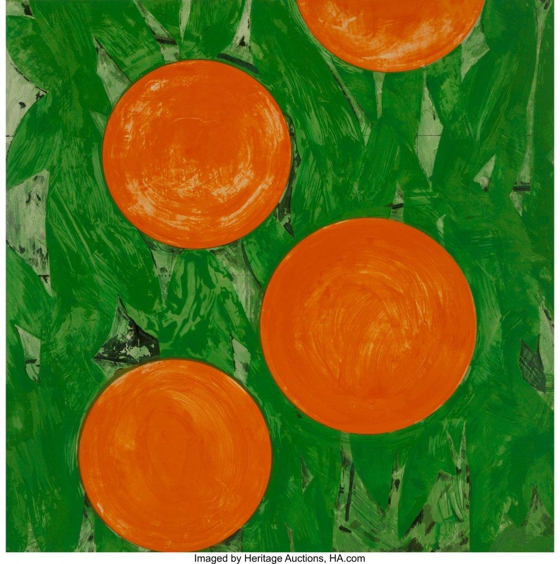 12161: Donald Sultan (b. 1951) Four Oranges, 1993 Serig