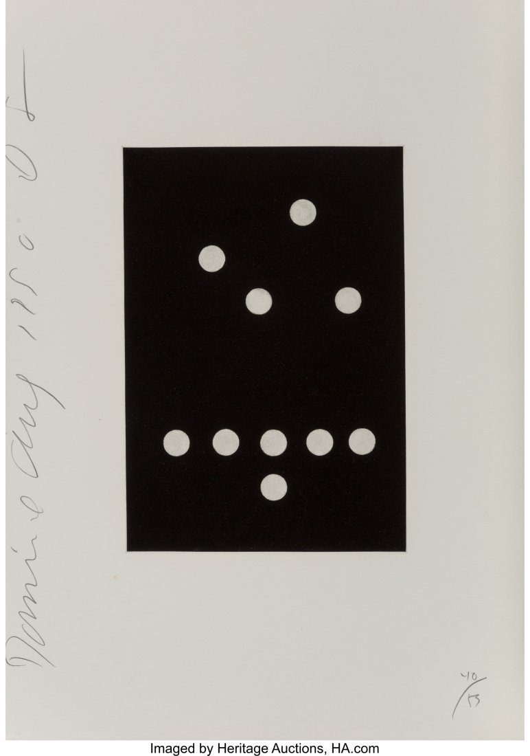 11128: Donald Sultan (b. 1951) Untitled, from Dominoes