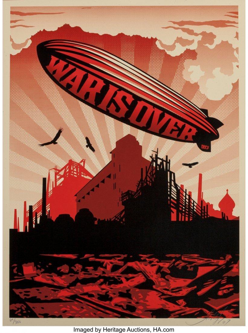 11051: Shepard Fairey (b. 1970) War is Over, 2007 Scree