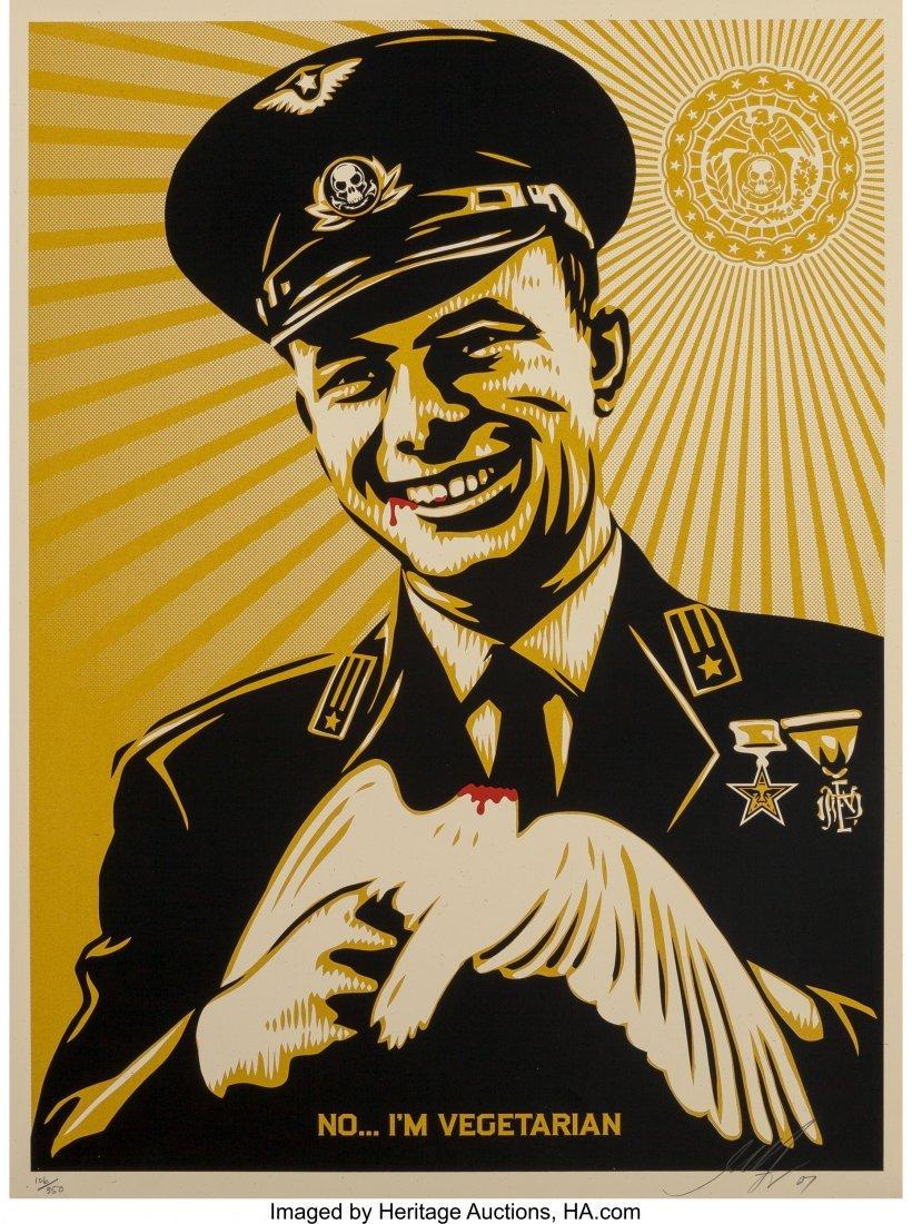 11052: Shepard Fairey (b. 1970) No, I'm Vegetarian, 200