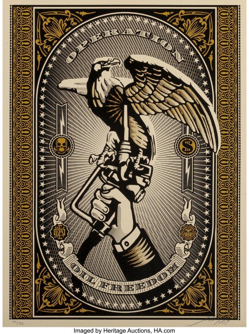 11053: Shepard Fairey (b. 1970) Operation Oil Freedom (