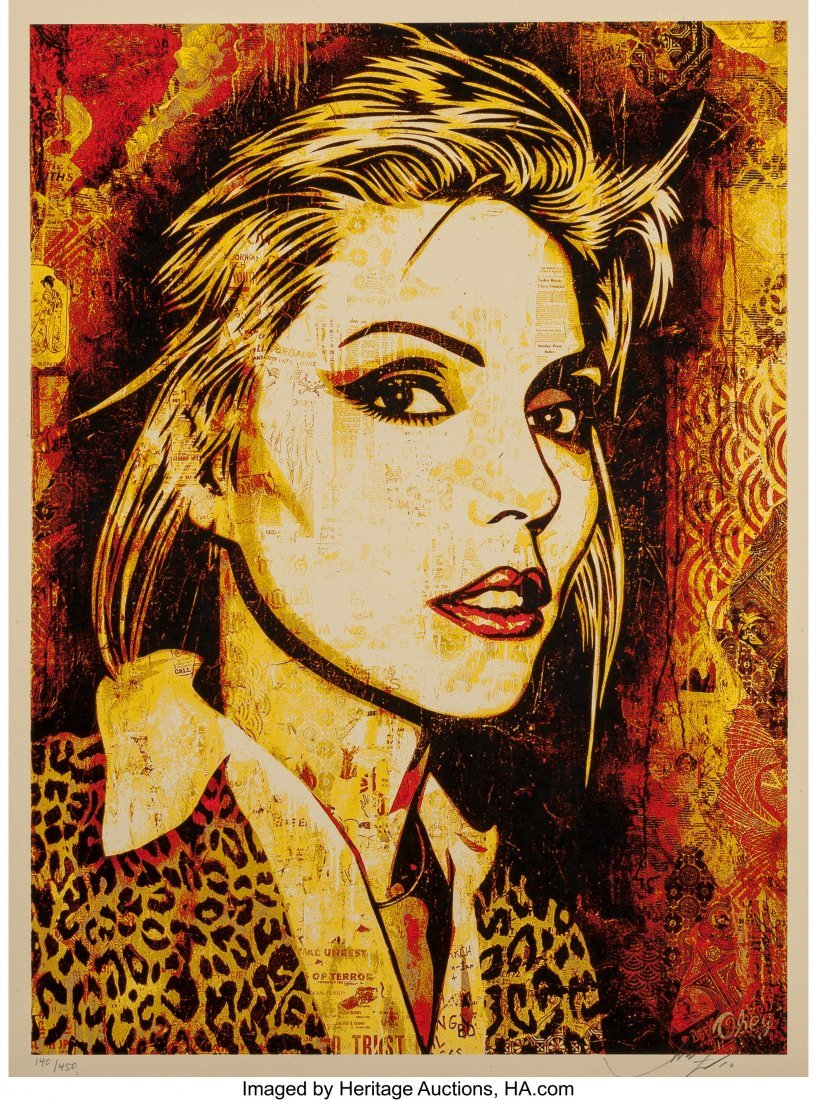 11060: Shepard Fairey (b. 1970) Debbie Harry Canvas Pri