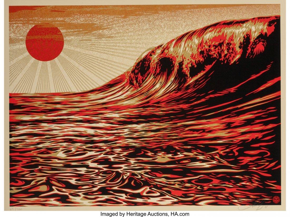 11062: Shepard Fairey (b. 1970) Dark Wave/Rising Sun, f