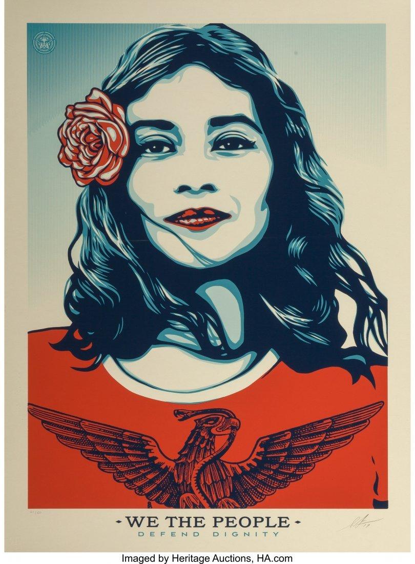 11065: Shepard Fairey (b. 1970) Defend Dignity, 2017 Sc