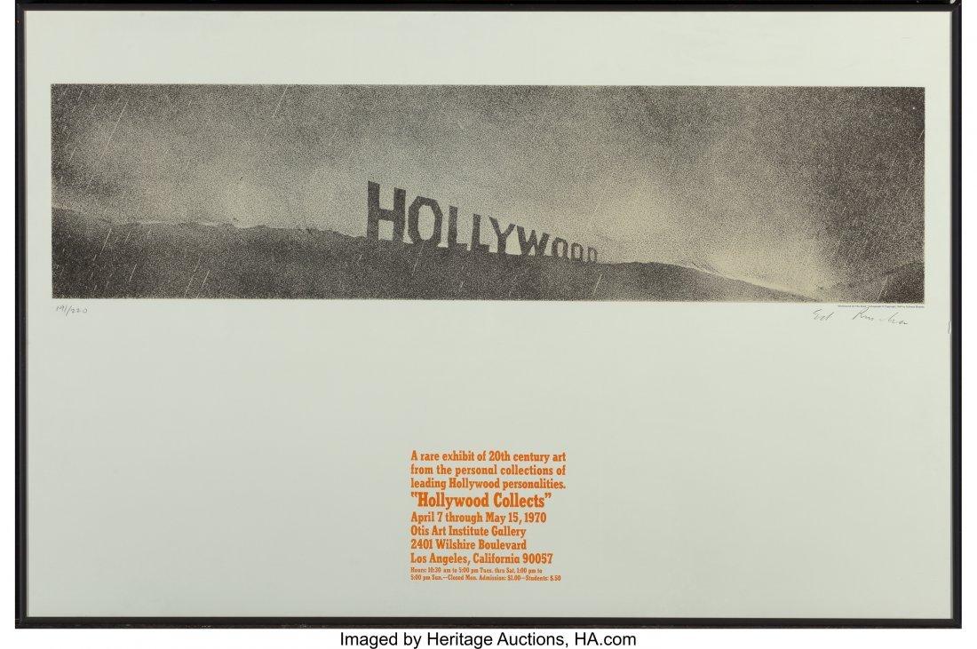 11117: Ed Ruscha (b. 1937) Hollywood in the Rain, from