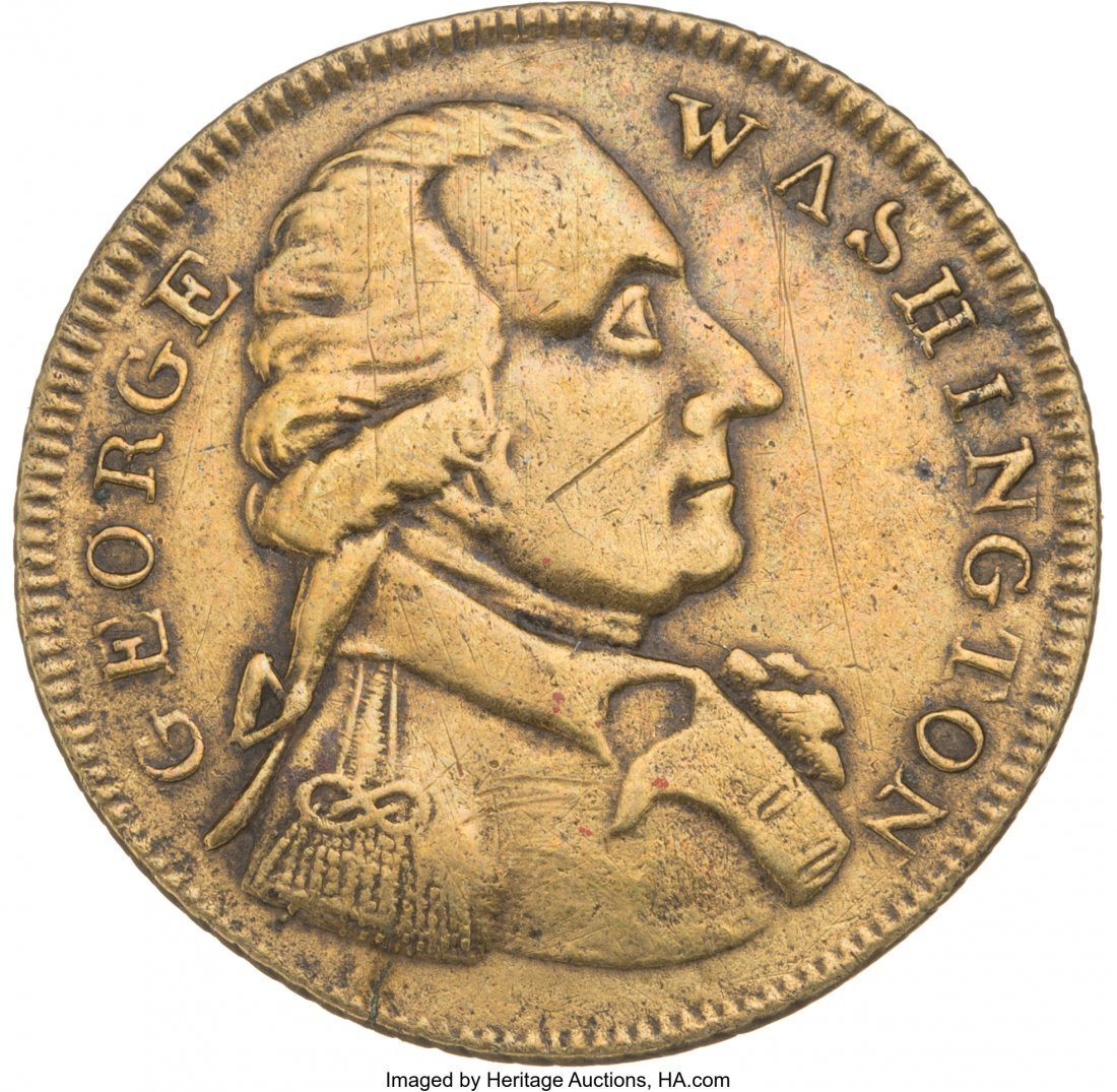 "43001: George Washington: Small Size ""Success"" Token. G"