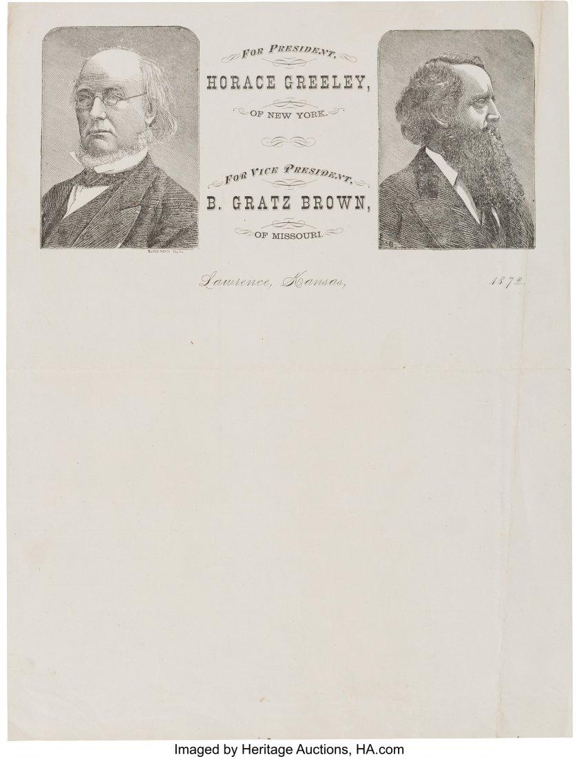 43287: Greeley & Brown: Rare Jugate Lettersheet with La
