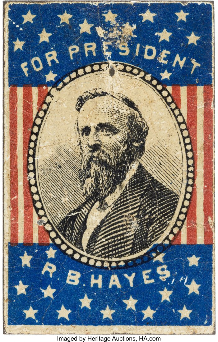 43293: Rutherford B. Hayes: Rarely-offered Lithographed