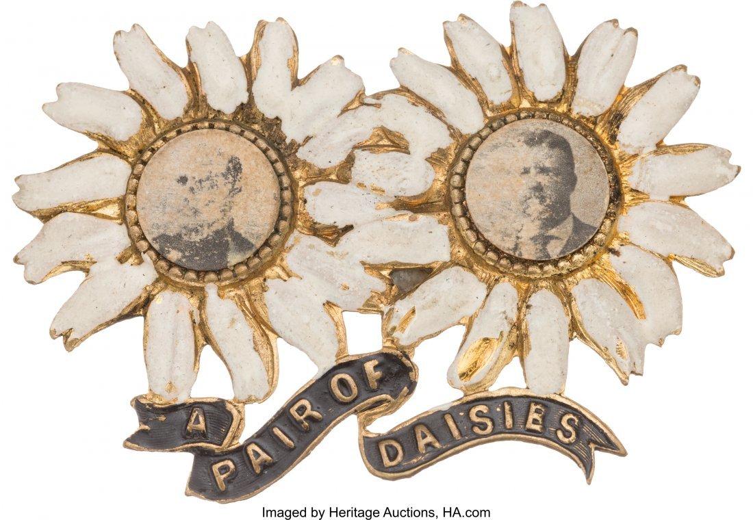 """43389: McKinley & Roosevelt: Classic """"Pair of Daisies"""""""