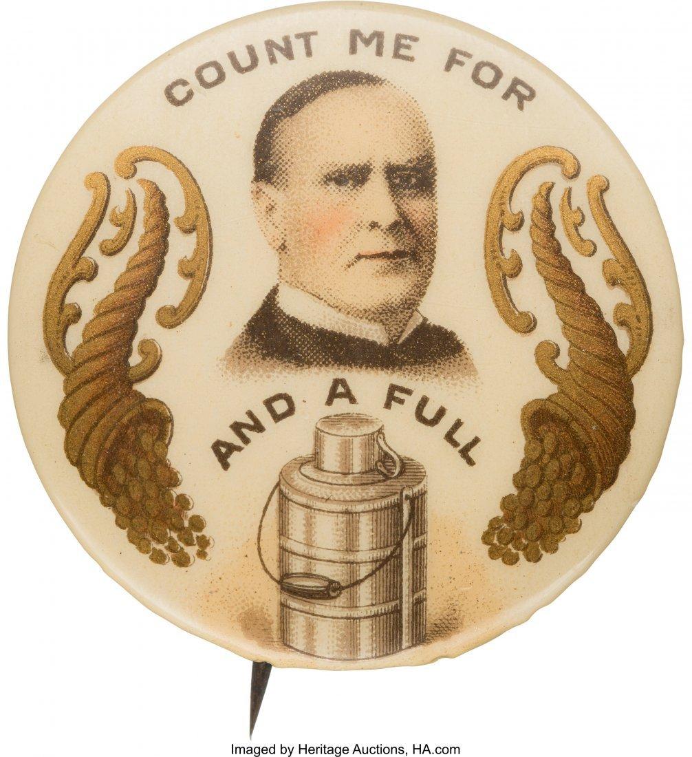 43390: William McKinley: Colorful and Rare Rebus Pin Fr