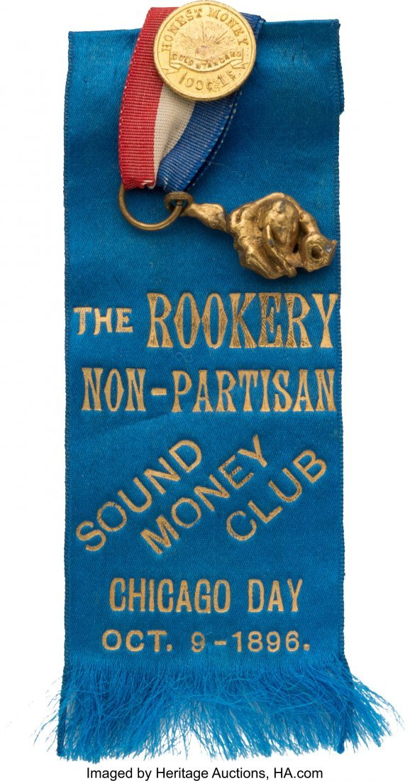 43393: William McKinley: Most Unusual Sound Money Ribbo