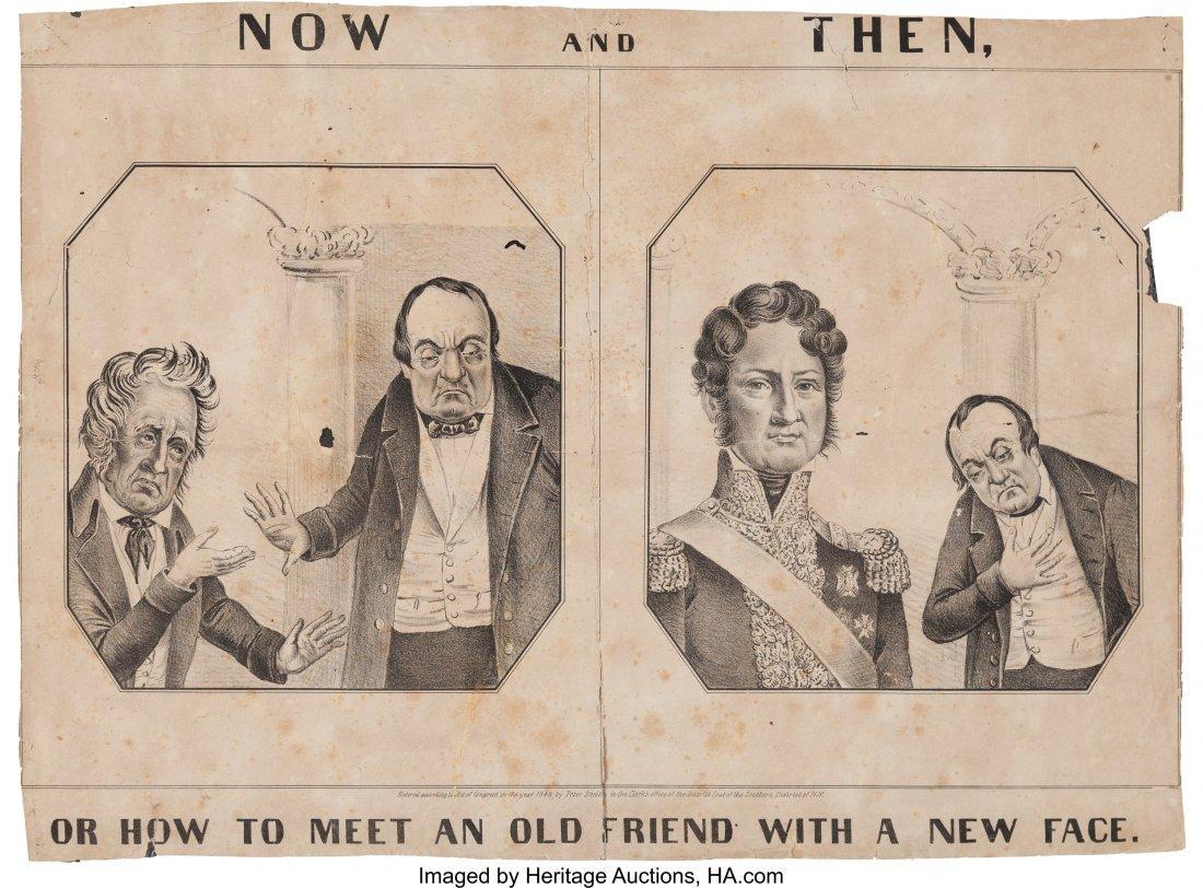 43104: [Zachary Taylor]: Anti-Cass Cartoon from 1848. 1